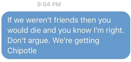 How I talk to my best friend :L