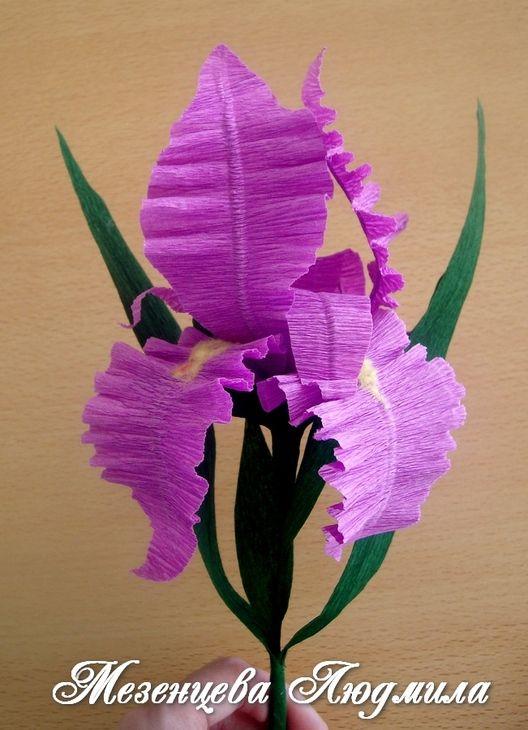 Работы из бумаги: декоративные цветы из гофрированной бумаги (искусственные цветы, гофрированная бумага, креповая бумага) ФОТО #5