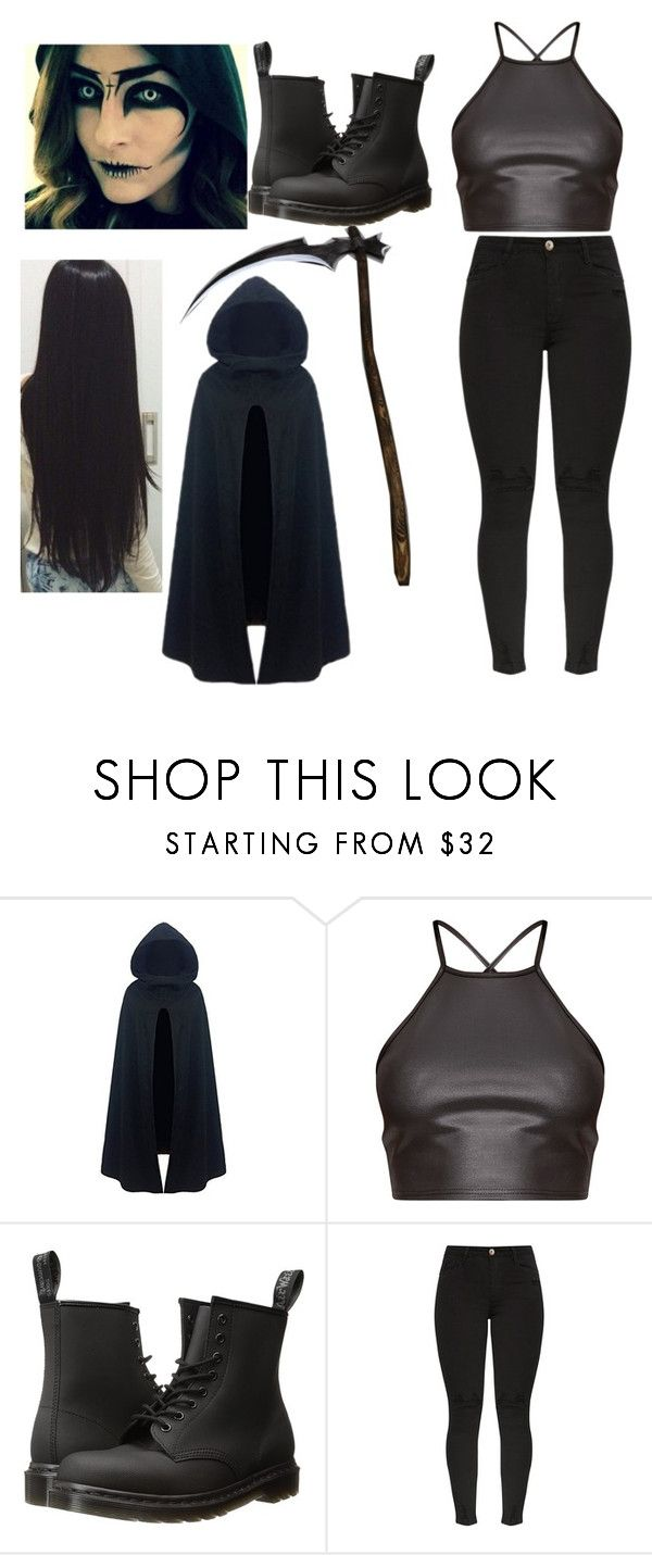 """""""Grim Reaper costume"""" by brebre25410 ❤ liked on Polyvore featuring Dr. Martens"""