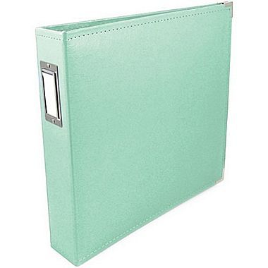 We R Memory Keepers™ Faux Leather 3-Ring Binder, 12in. x 12in., Mint