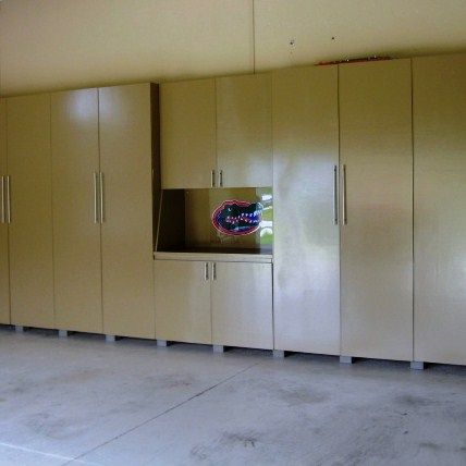 This Set Of Garage Storage Cabinets Was Custom Made For My Clients When  Parking In The Garage Was Nearly Impossible.