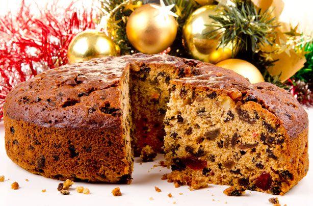 Χριστουγεννιάτικο κέϊκ με αποξηραμένα φρούτα & ξηρούς καρπούς