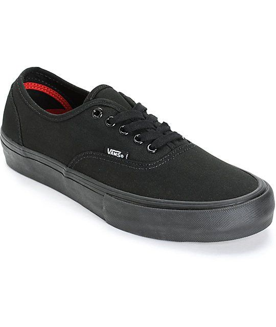 The Vans Authentic Pro shoes in blackout is perfect If you're looking for a thin, classic vans shoe that also has some good impact protection. These authentic pros take everything that's awesome about