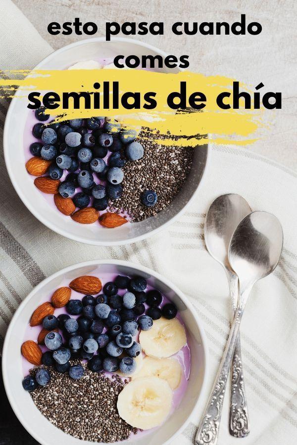 8 beneficios de las SEMILLAS DE CHIA [+RECETAS] Esto pasa cuando comes chía Healthy Dessert Recipes, Healthy Foods To Eat, Whole Food Recipes, Healthy Snacks, Healthy Eating, Meatless Recipes, Healthy Weight, Cooking Recipes, Meals For Two
