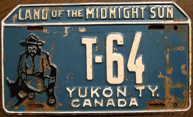 YUKON 1953 undated license plate before tab addition | Flickr - Photo Sharing!