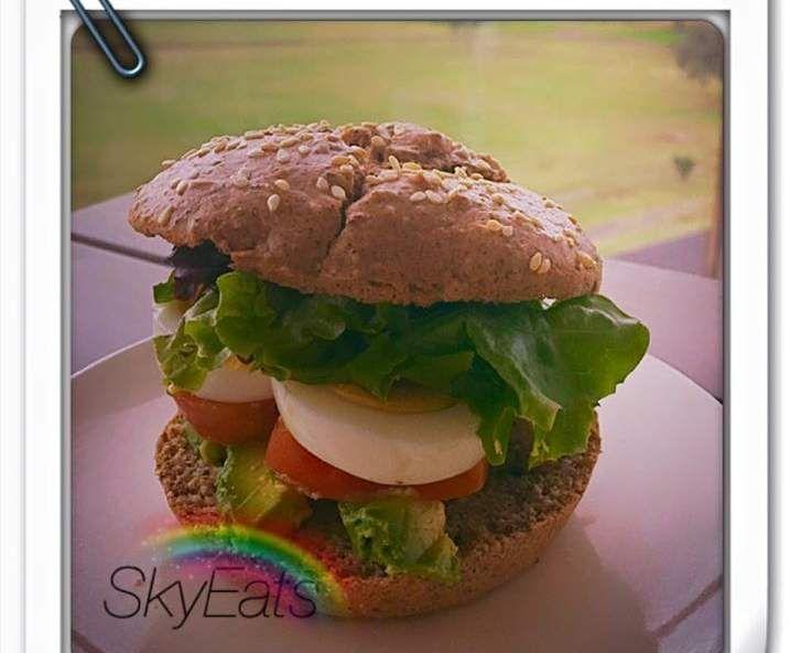 Recipe SkyEats Paleo Grain-free Seed Hamburger / Jumbo / Sandwich Bread Rolls by Kobi Steedman - Recipe of category Breads & rolls