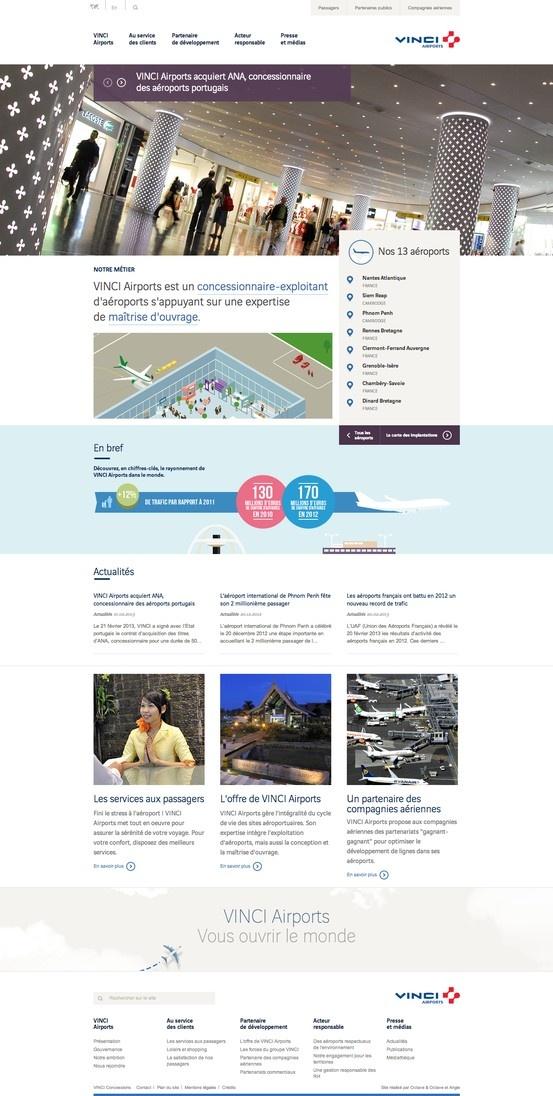 VINCI Airports - professional flat web design
