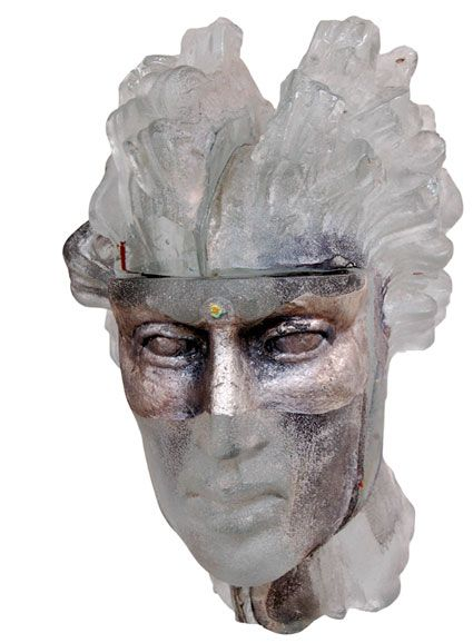 Hermes – glass sculpture by Claes Uvesten