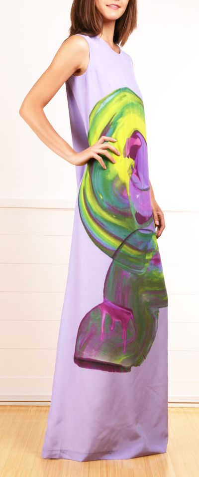 abstract painted dress MARIMEKKO