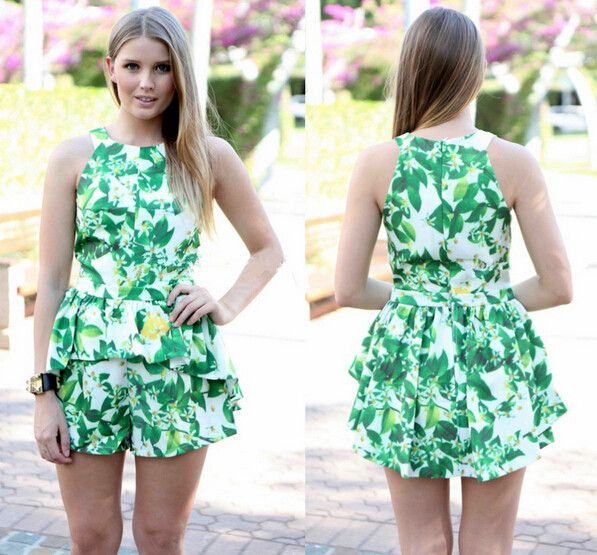 Find More Jumpsuits & Rompers Information about 2015 high end printing piece pants sleeveless vest piece pants sexy ladies club jumpsuit women V neck short Rompers playsuits,High Quality pants bow,China pant hanger Suppliers, Cheap playsuit women from Lady Fshion on Aliexpress.com