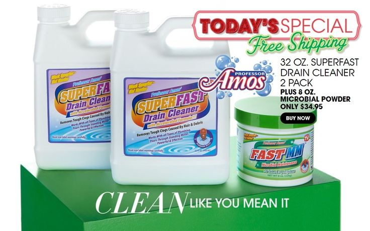 20 Off Professor Amos Superfast Drain Cleaner 2 Pack