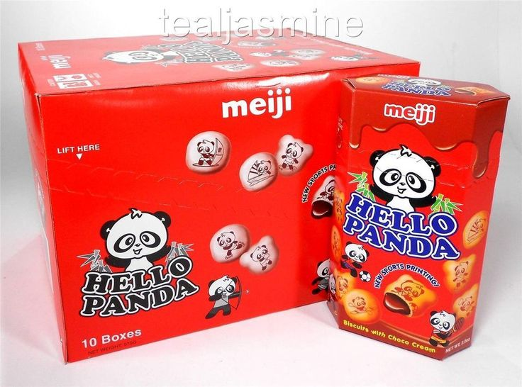 10 Boxes 2 Oz. Meiji Hello Panda Biscuits CHOCOLATE CREAM Filled Cookie Snack #Meiji