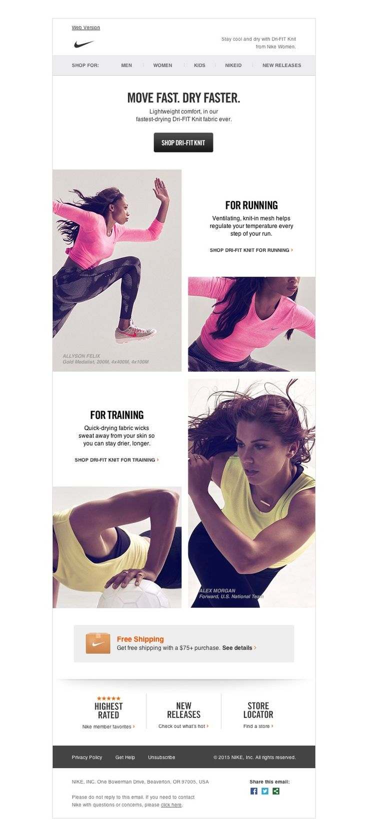 Nike - Get Moving: All New Dri-FIT Knit from Nike Women