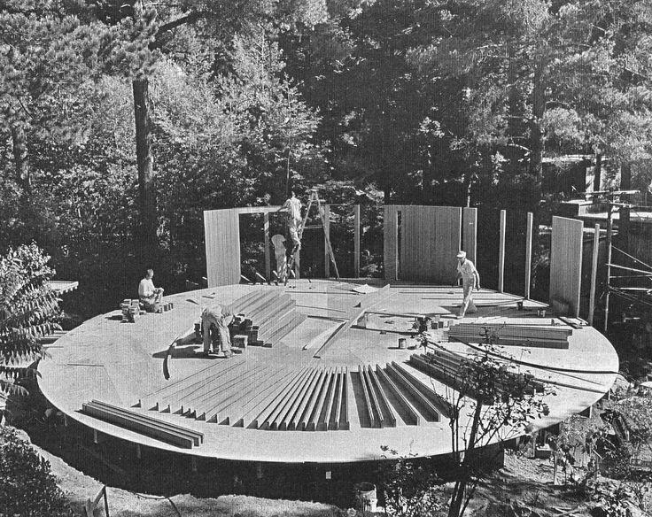 Meyer Round House Under Construction Oakland Ca 1970