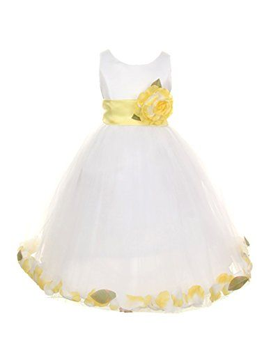 White and yellow dress for girls