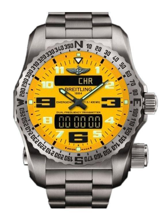 @breitling  Watch Emergency II Yellow #alarm-yes #bezel-bidirectional…