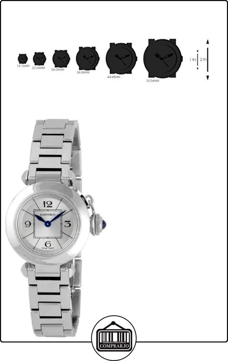 Cartier W3140007 - Reloj de pulsera mujer, acero inoxidable, color plateado  ✿ Relojes para mujer - (Lujo) ✿