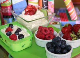 Little Frozen Fruit and Yogurt Parfaits