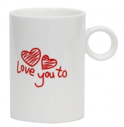 Gift this Love you too mug that will convey your feelings in a most unique way. With both sides printed with love you & love you too printed on ceramic stuff, this 4 inches high mug is perfect for morning coffee. It will gently make an impression of love gifted by you every time they sip their favorite tea or coffee in it.