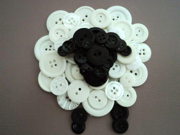 Button Sheep Nursery Decor por HomespunArtistries en Etsy