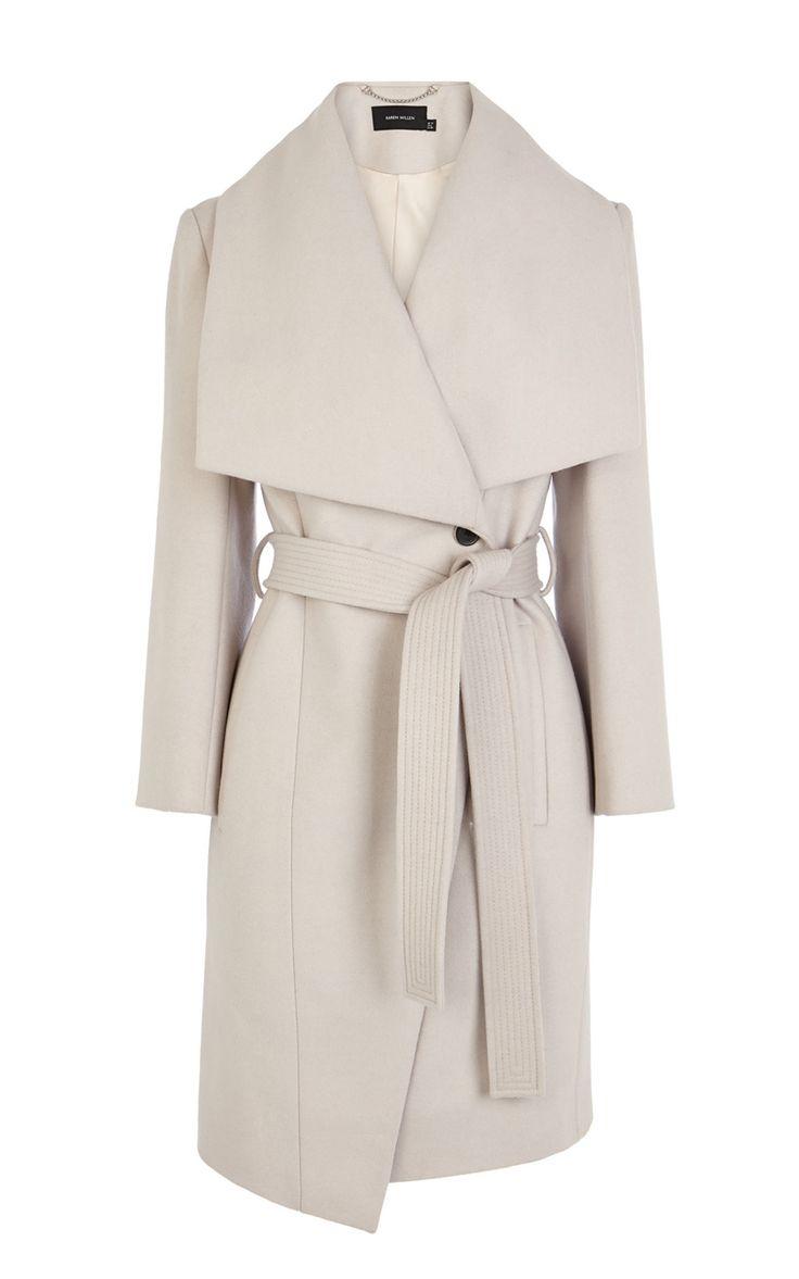 Belted coat   Luxury Women's outerwear   Karen Millen