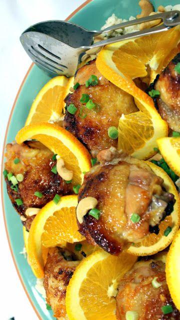 Ginger Orange Chicken with Coconut Rice