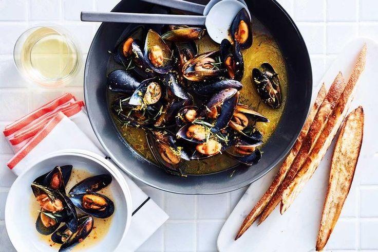 Silvia Colloca's super speedy mussels, chilli and rosemary soup