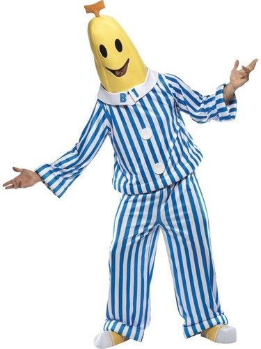 Bananas in Pyjamas Costume is perfect for a cartoon costume, or a tv show costume!  Buy two for a classic couple costume as B1 and B2!. Great childhood TV character costumes available at www.CostumeDirect.com.au Fast shipping Australia wide.
