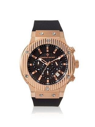 78% OFF Christian Van Sant Men's CV8124 Black Stainless Steel Watch