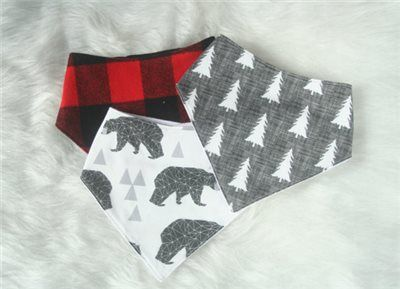 Buffalo Plaid Baby Set Handmade Gifts Shower Gift In Florida First Birthday Shoes And Bib