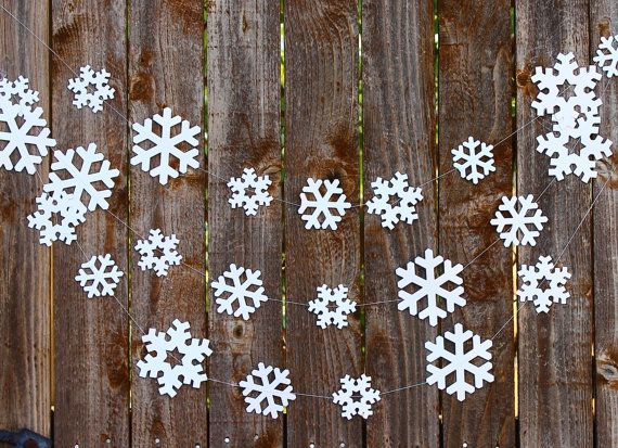 Snowflake Paper Garland Photo Prop Holiday by MailboxHappiness