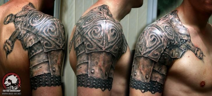 Awesome armor tattoos shoulder                                                                                                                                                                                 More