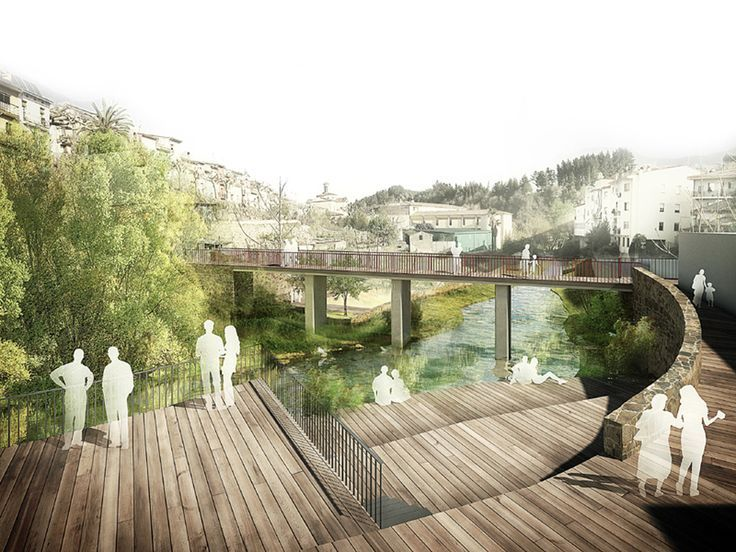River walk with recreational areas in arb cies architect for Greeninc landscape architecture