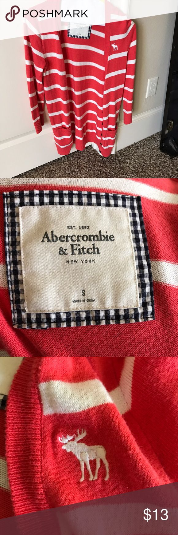 Abercrombie and Fitch Striped Cardigan Abercrombie and Fitch Striped Cardigan Abercrombie & Fitch Sweaters Cardigans