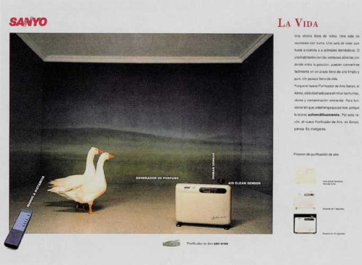 Read more: https://www.luerzersarchive.com/en/magazine/print-detail/sanyo-9767.html Sanyo Sanyo. The Life. Ads for a dryer, an air-purifier and an air-conditioner. Tags: Jaime Anglada,Lluis Morillas,Sanyo,Scacs, Barcelona,Carmen Cruz,Joan Tomas