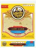 Low Carb, High Fiber Tortillas Traditional Flour
