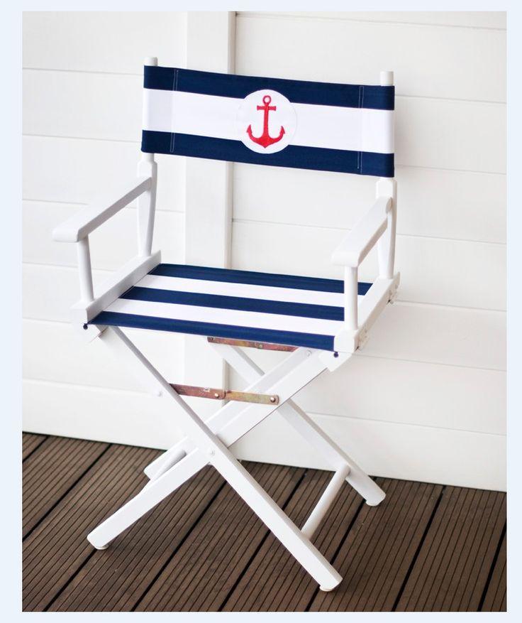 Krzesło reżyserskie w stylu marynarskim
