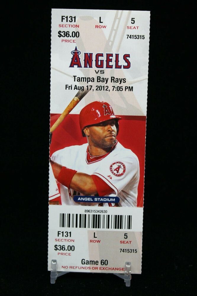 Details about Los Angeles Angels vs Tampa Bay Rays Game 60