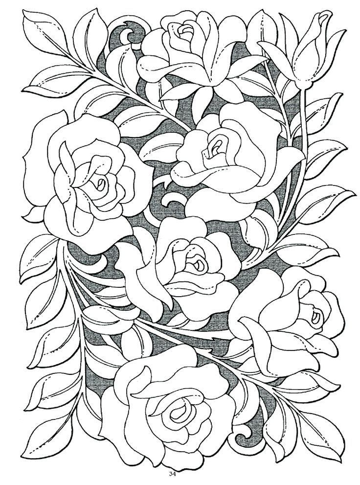 Best 23 Rose Coloring Pages For Adults Best Coloring Pages Inspiration And Ideas In 2020 Rose Coloring Pages Flower Coloring Pages Coloring Pages