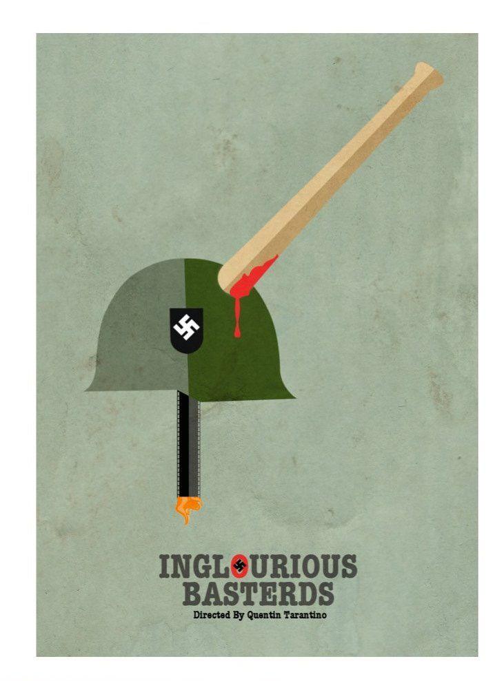 Inglourious Basterds (2009) ~ Minimal Movie Poster by David Peacock  Adoro!