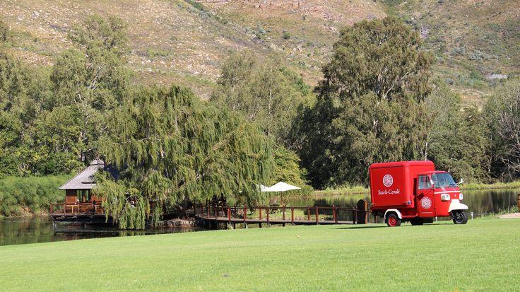 Stark-Condé Wines is located in the picturesque dramatic Jonkershoek Valley in Stellenbosch.