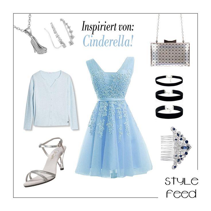 Aschenputtel oder Cinderella hat Stil - wenn sie erstmal ein Kleid in die Hand bekommt. Deshalb wird sie selbst in einer modernen Interpretation den Cinderella-Look mit glitzernden Accessoires toppen. Zu dem Prinzessinnen-Look gehört ein Choker unbedingt dazu! Baby-Blaues Festkleid mit Tüll / Cinderella Look / Cinderella Outfit / Cinderella Fashion / Märchenprinzessin Outfit / Fairytale Princess Outfit / Disney Princess Fashion #tvshowsfashion #moviefashion #movieoutfits #shopthislook…