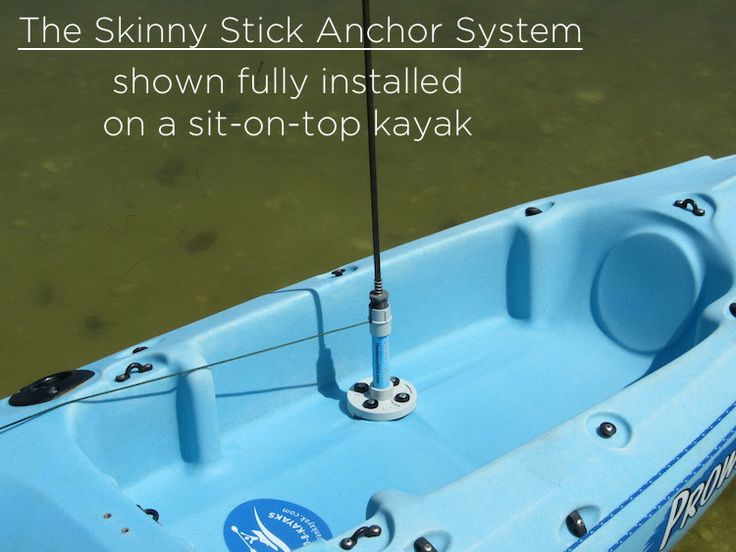 The Skinny Stick Kayak Anchor shown fully installed