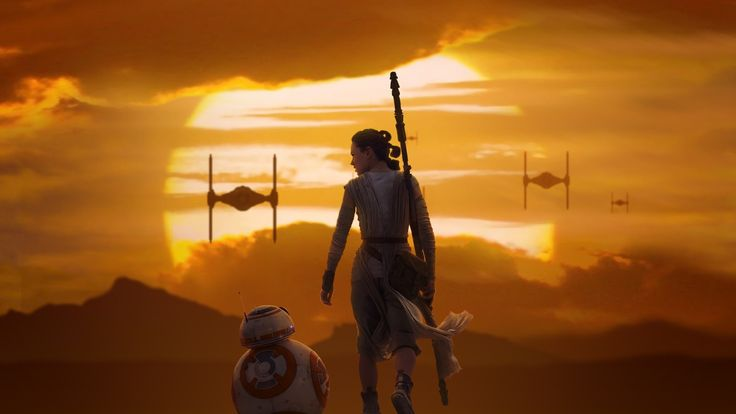 Free Rey BB 8 Star Wars The Force Awakens, computer desktop wallpapers, pictures, images