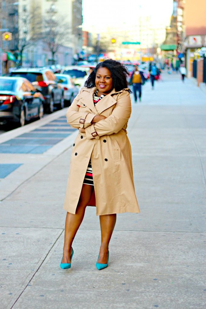 @anntaylorstyle trench coat,  #trenchcoat, plus size trench coat, stripe dress, jcrew elsie suede pumps