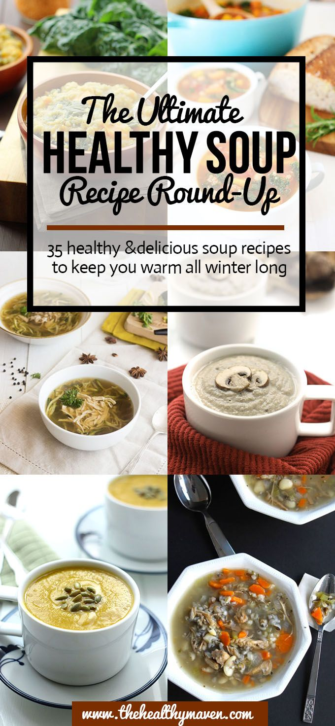 33 Healthy Soups // make a big batch to eat throughout week #weightloss #foodprep