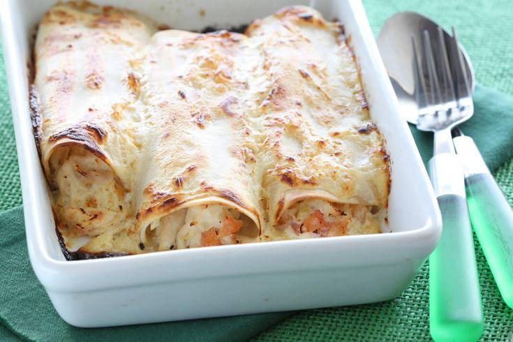 Cómo preparar enchiladas de pollo con queso Finlandia Light Gruyere La Serenísima
