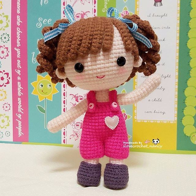 Yeah! Finally done up the hair for my sweet little Luyu. Decided to give her some curly bangs but now I wonder whether she can wear the owl beanies ~ oops will figure out tomorrow morning as it is time for bed (lovely pattern by @munisesi )
