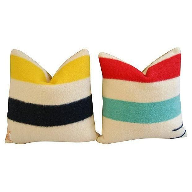 Decorative Pillows Hudson Bay : Authentic Hudson s Bay Blanket Pillows - a Pair Bays, Pillows and Products