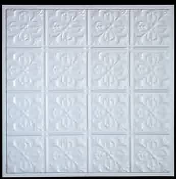 Ceiling Tiles White Polymer, Ceiling Tile Polymer Plastic 23 3/4 in/sq. by The Renovators Supply. $54.00. Rejuvenates your ceilings with vintage elegance. Polymer Plastic Ceiling Tile, high impact polymer, paintable ceiling tile, 23 3/4 inch square. Beautiful and enduring solution for damaged ceilings. Installs with a variety of fasteners like glue or staples. Great tile for creative painting enhancements. Ceiling Tile Polymer Plastic 23 3/4 in/sq.